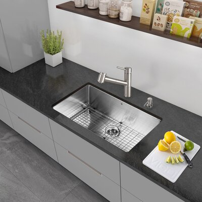 Branson Single Handle Pull-Out Kitchen Faucet with Soap Dispenser