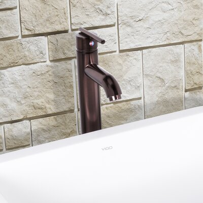 Seville Single Lever Vessel Bathroom Faucet Finish: Oil Rubbed Bronze