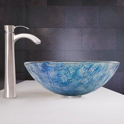 Oceania Glass Circular Vessel Bathroom Sink
