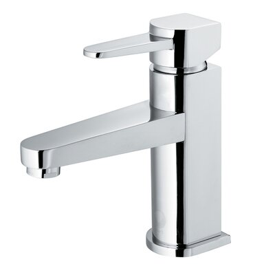 Penela Single Lever Basin Bathroom Faucet with Deck Plate Finish: Chrome