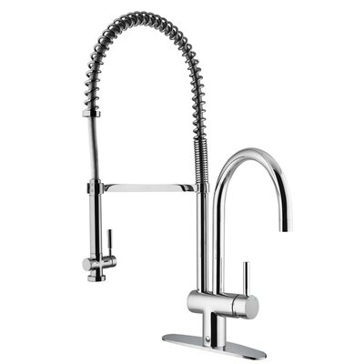 Dresden Pull-Down Spray Kitchen Faucet with Deck Plate