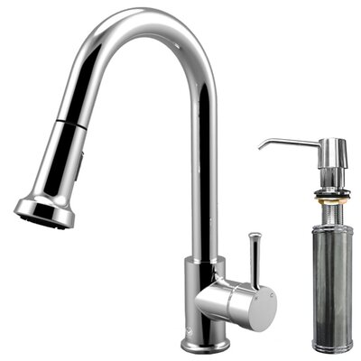 Harrison Single Handle Pull-Down Spray Kitchen Faucet with Soap Dispenser