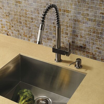 Lincroft Single Handle Pull-Down Kitchen Faucet with Soap Dispenser