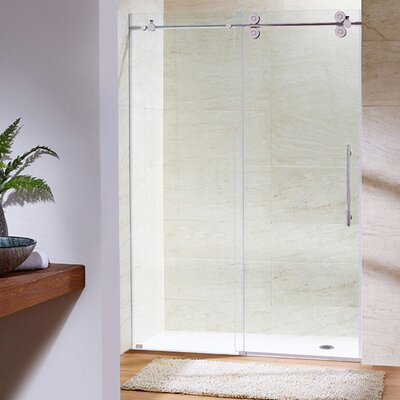"VIGO Elan 56"" x 74"" Single Sliding Frameless Shower Door VG6041STCL5674"