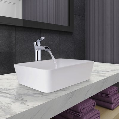Marigold Matte Stone Rectangular Vessel Bathroom Sink