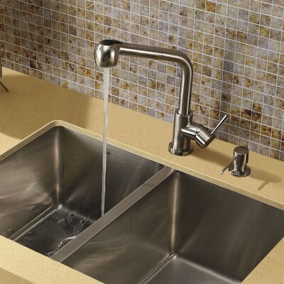 Avondale Single Handle Pull-Out Spray Kitchen Faucet with Soap Dispenser