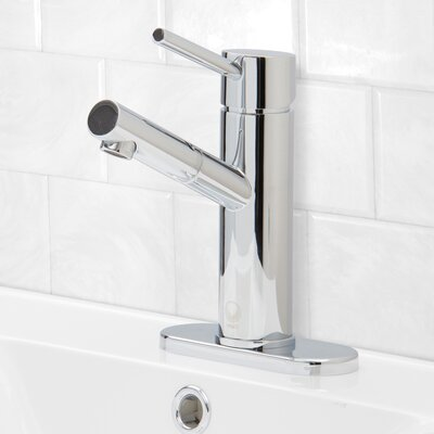 Noma Single Lever Basin Bathroom Faucet with Deck Plate Finish: Chrome
