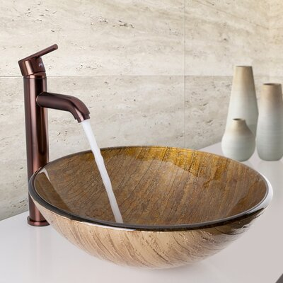 Glass Sink Glass Circular Vessel Bathroom Sink