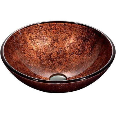 Mahogany Moon Glass Circular Vessel Bathroom Sink