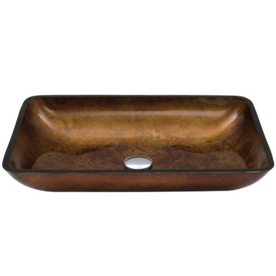 Glass Rectangular Vessel Bathroom Sink Finish: Russet