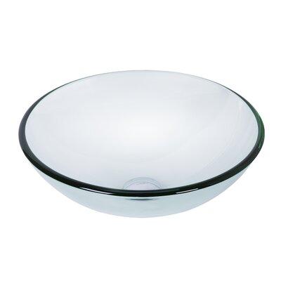 Tempered Glass Circular Vessel Sinks Bathroom Sink