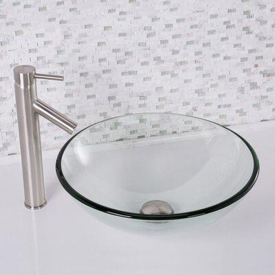 Glass Circular Vessel Bathroom Sink Finish: Crystalline
