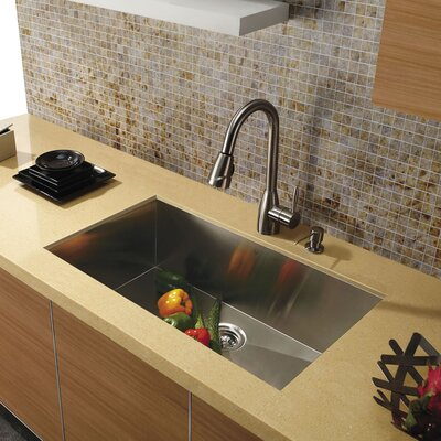 30 x 19 Undermount Single Bowl 16 Gauge Stainless Steel Kitchen Sink