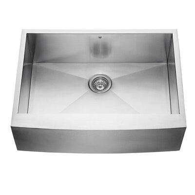 Alma 30 x 22.5 Farmhouse Apron 16 Gauge Stainless Steel Kitchen Sink