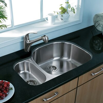 32 inch Undermount 80/20 Double Bowl 18 Gauge Stainless Steel Kitchen Sink With Grids and Strainers: No