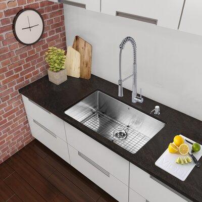 Alma 30 inch Undermount 16 Gauge Stainless Steel Kitchen Sink