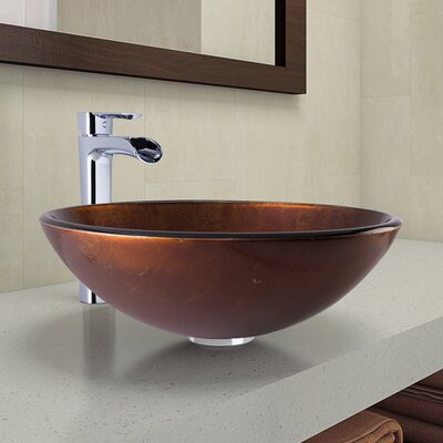 Circular Vessel Bathroom Sink Faucet Finish: Chrome