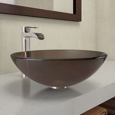 Circular Vessel Bathroom Sink VGT1068