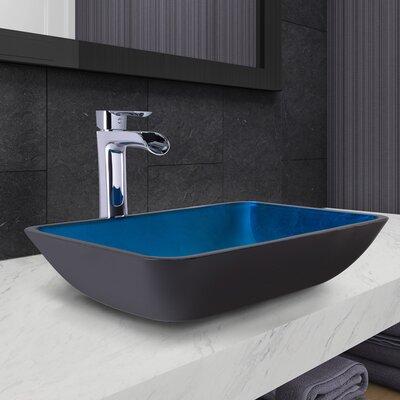 Rectangular Vessel Bathroom Sink