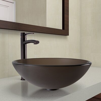 Circular Vessel Bathroom Sink Faucet Finish: Antique Rubbed Bronze