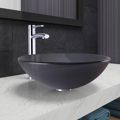 Circular Vessel Bathroom Sink Faucet Finish: Chrome