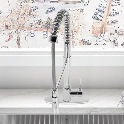 Laurelton Single Handle Deck Mounted Kitchen Faucet with Deck Plate Finish: Chrome