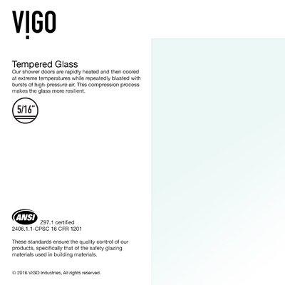 """VIGO Rialto 57"""" x 34"""" Hinged Bathtub Door VG6074ARBCL3458"""