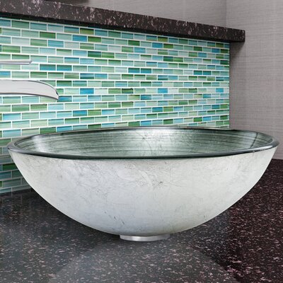 Circular Vessel Bathroom Sink Finish: Simply Silver