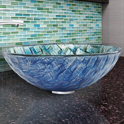 Circular Vessel Bathroom Sink Finish: Oceania