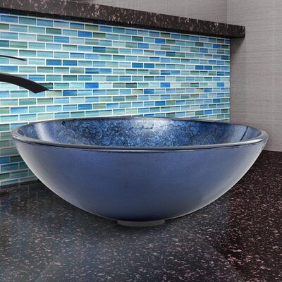 Circular Vessel Bathroom Sink Finish: Indigo Eclipse