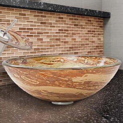 Circular Vessel Bathroom Sink Finish: Mocha Swirl