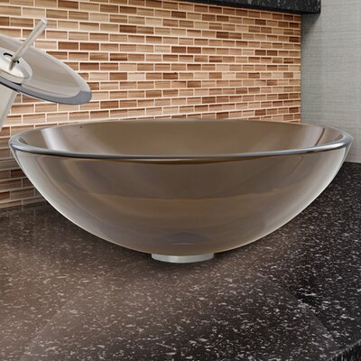 Circular Vessel Bathroom Sink Finish: Sheer Sepia
