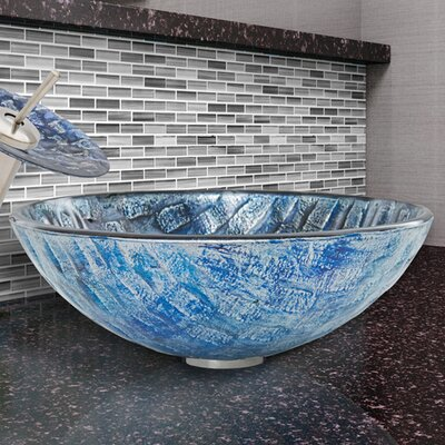 Circular Vessel Bathroom Sink Finish: Rio