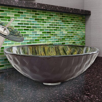 Circular Vessel Bathroom Sink Finish: Amazonia