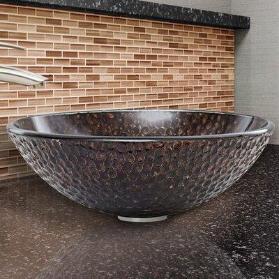 Circular Vessel Bathroom Sink Finish: Copper Shield