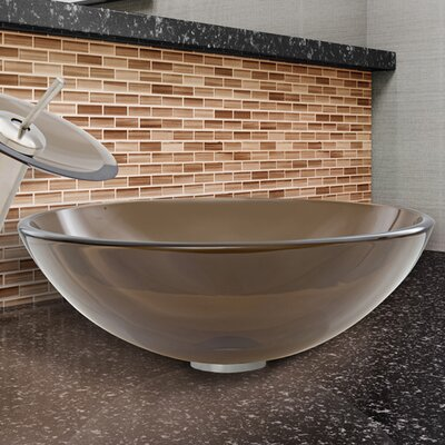 Circular Vessel Bathroom Sink Finish: Sheer Sepia Frost