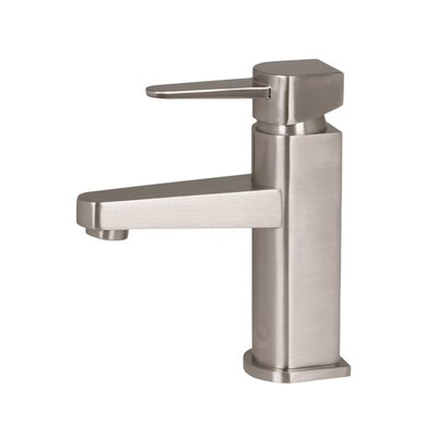 Penela Single Lever Basin Bathroom Faucet with Deck Plate Finish: Brushed Nickel