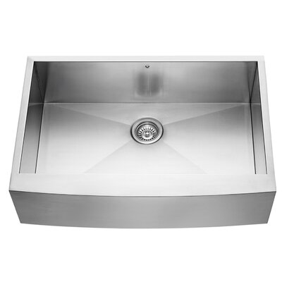 Alma 33 inch Farmhouse Apron 16 Gauge Stainless Steel Kitchen Sink