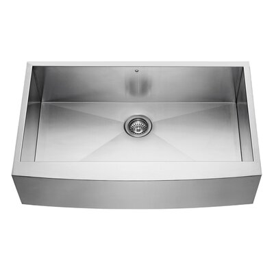 36 inch Farmhouse Apron 16 Gauge Stainless Steel Kitchen Sink