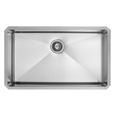Alma 30 inch Undermount 16 Gauge Stainless Steel Kitchen Sink