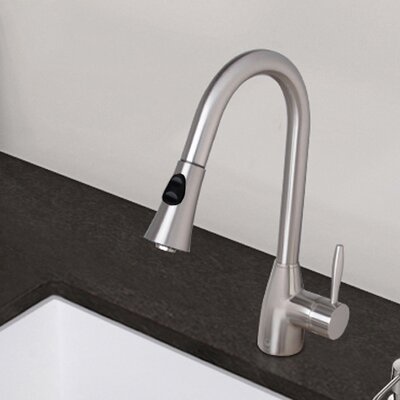 Aylesbury Single Handle Pull-Down Spray Kitchen Faucet Finish: Stainless Steel