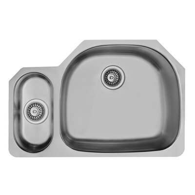 32 inch Undermount 80/20 Double Bowl 18 Gauge Stainless Steel Kitchen Sink