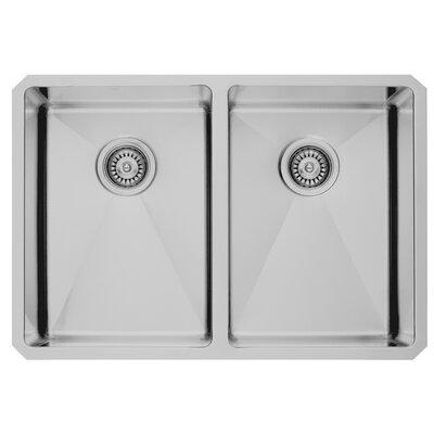 29 inch Undermount 50/50 Double Bowl 16 Gauge Stainless Steel Kitchen Sink