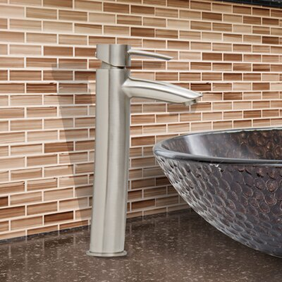 Shadow Single Lever Vessel Bathroom Faucet Finish: Brushed Nickel