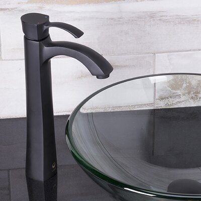 Otis Single Lever Vessel Bathroom Faucet Finish: Matte Black