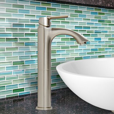 Linus Single Lever Vessel Bathroom Faucet Finish: Brushed Nickel
