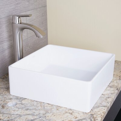 Bavaro Matte Stone Square Vessel Bathroom Sink
