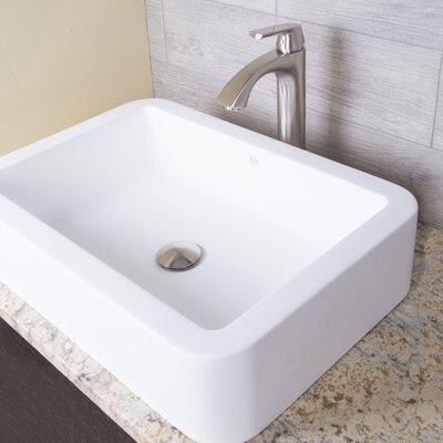 Petunia Rectangular Vessel Bathroom Sink