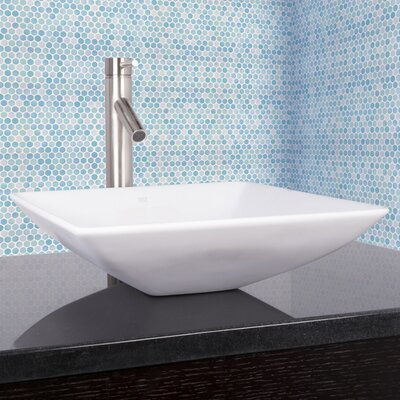 Hibiscus Square Vessel Bathroom Sink