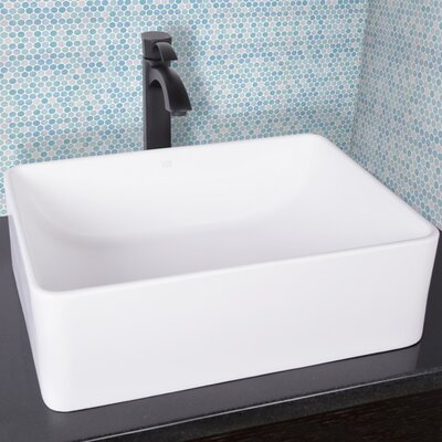 Amaryllis Stone Rectangular Vessel Bathroom Sink